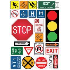 "Ashley Safety Signs Design Calendar Set - Write on/Wipe off, Built-in Magnet - 12"" Width x 17"" Depth - Multicolor - 1 Pack"