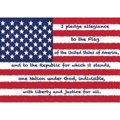 Diecut Magnets Us Pledge Allegiance