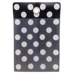 Smart Poly Folder B/W Dots 4X6 10Pk