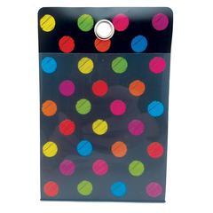 Smart Poly Fldr Chalk Dots 4X6 10Pk