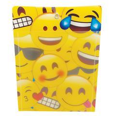 Ashley Emoji Design Dry-erase Pocket - Rectangle - 12 / Pack
