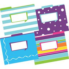 LETTER SIZE FILE FOLDERS HAPPY MULTI-DESIGN SET