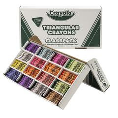 BINNEY & SMITH / CRAYOLA Classpack Triangular Crayons, 16 Colors, 256/BX