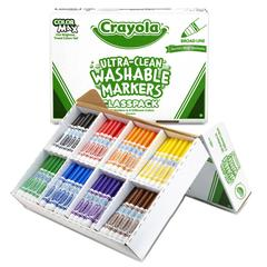 BINNEY & SMITH / CRAYOLA Washable Classpack Markers, Broad Point, Assorted, 200/Pack