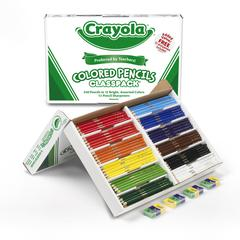 Colored Pencils 240 Ct Classpack 12, Assorted Colors Full Length