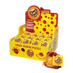 BLUE ORANGE USA RACK POP CRAZY CHEESE DISPLAY WITH 12 GAMES