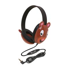 CALIFONE INTERNATIONAL LISTENING FIRST ANIMAL-THEMED STEREO HEADPHONES BEAR