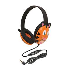 CALIFONE INTERNATIONAL LISTENING FIRST ANIMAL-THEMED STEREO HEADPHONES TIGER