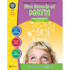 CLASSROOM COMPLETE PRESS FIVE STRANDS OF MATH BIG BOOK GR 6-8 PRINCIPLES & STANDARDS OF MATH