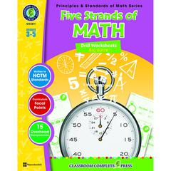 DRILL SHEETS FIVE STRANDS OF MATH BIG BOOK GR 3-5 PRINCIPLES MATH