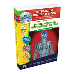 CLASSROOM COMPLETE PRESS SENSES NERVOUS RESPIRATORY SYSTEMS INTERACTIVE WHITEBOARD LESSONS