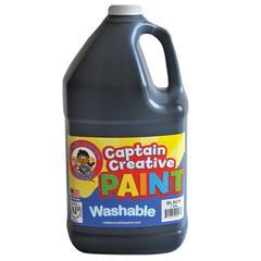 CAPTAIN CREATIVE BLACK GALLON WASHABLE PAINT BY CAPTAIN CREATIVE