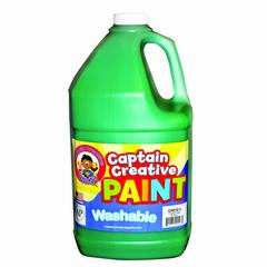 CAPTAIN CREATIVE GREEN GALLON WASHABLE PAINT BY CAPTAIN CREATIVE