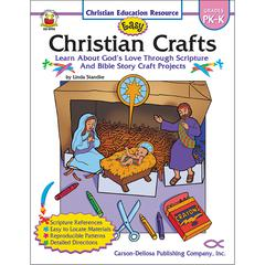 CARSON DELLOSA EASY CHRISTIAN CRAFTS GR PK-K
