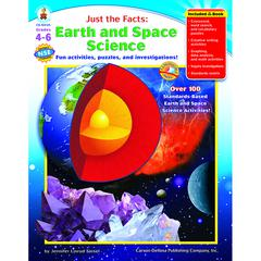 CARSON DELLOSA JUST THE FACTS EARTH & SPACE SCIENCE BOOKS-GR 4-6