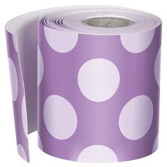 Purple W Polka Dots Str Borders, School Girl Style