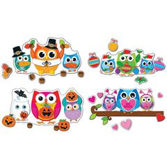 CELEBRATE WITH COLORFUL OWLS BB SET