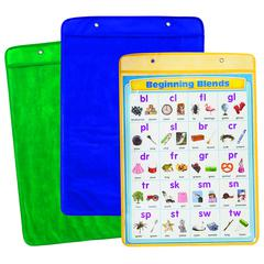 CARSON DELLOSA CHART POCKETS YELLOW BLUE GREEN 18X25