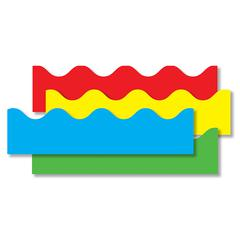 BORDER SET SCALLOPED 4/PK RED YELLOW GREEN BLUE