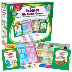 GAMES SCIENCE FILE FOLDER SKILL BUILDING CENTER ACTIVITIES GR 2-3