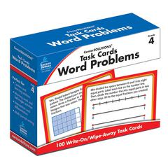 CARSON DELLOSA TASK CARDS WORD PROBLEMS GR 4