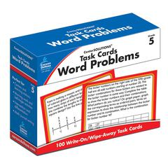 CARSON DELLOSA TASK CARDS WORD PROBLEMS GR 5