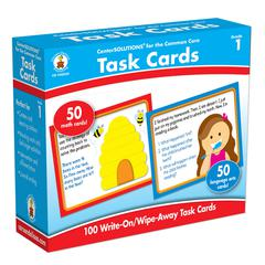 CARSON DELLOSA CENTER SOLUTIONS TASK CARDS GR 1
