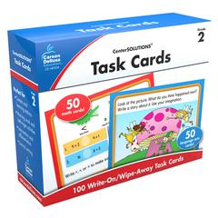 CARSON DELLOSA CENTER SOLUTIONS TASK CARDS GR 2