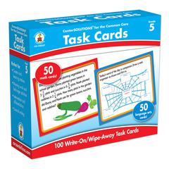 CARSON DELLOSA CENTER SOLUTIONS TASK CARDS GR 5