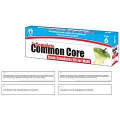 CARSON DELLOSA MATH GR 6 COMPLETE COMMON CORE KIT STATE STANDARDS