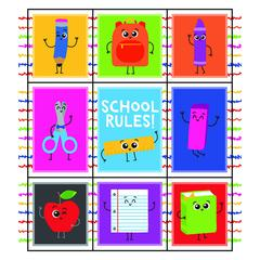 SCHOOL TOOLS STICKERS PRIZE GR PK-5