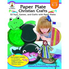 PAPER PLATE CHRISTIAN CRAFTS GR K-3