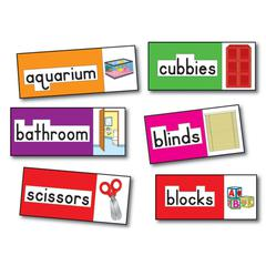 CARSON DELLOSA BB SET PRINT-RICH CLASSROOM LABELS 56 ILLUSTRATED WORD CARDS