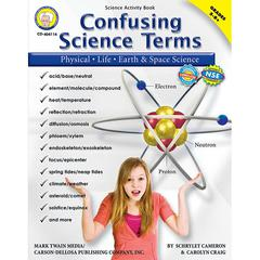 CARSON DELLOSA CONFUSING SCIENCE TERMS BOOK GR 5-8