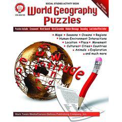 CARSON DELLOSA WORLD GEOGRAPHY PUZZLES