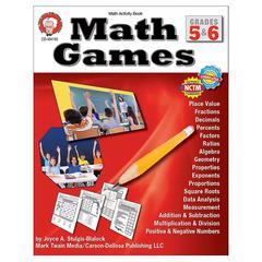 CARSON DELLOSA MATH GAMES GR 5-6