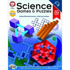 CARSON DELLOSA SCIENCE GAMES AND PUZZLES