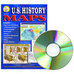 US HISTORY MAPS CLIP ART CD