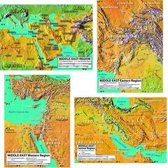 WORLD GEOGRAPHY MIDDLE EAST MAPS BB SET