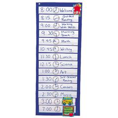 POCKET CHART SCHEDULING 12-1/2 X 33