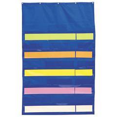 CARSON DELLOSA POCKET CHART ORIGINAL PLUS BLUE 34 X 52