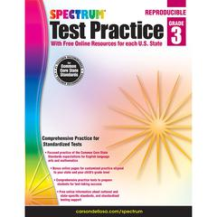 TEST PRACTICE WORKBOOK GR 3