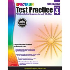 SPECTRUM TEST PRACTICE WRKBK GR 4