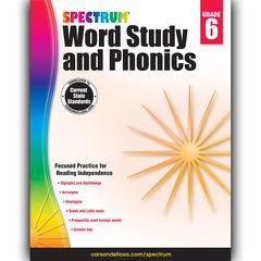 CARSON DELLOSA SPECTRUM GR 6 WORD STUDY AND PHONICS
