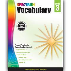 CARSON DELLOSA SPECTRUM VOCABULARY GR 3