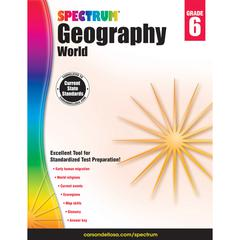 CARSON DELLOSA SPECTRUM GEOGRAPHY WORLD GR 6