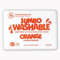 CENTER ENTERPRISES JUMBO STAMP PAD ORANGE WASHABLE