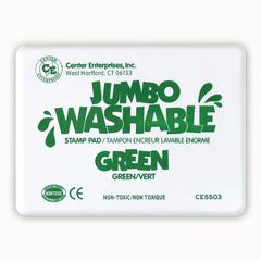 JUMBO STAMP PAD GREEN WASHABLE