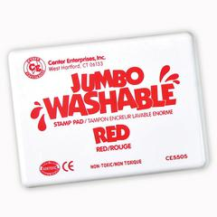 JUMBO STAMP PAD RED WASHABLE