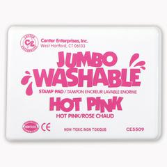 CENTER ENTERPRISES JUMBO STAMP PAD HOT PINK WASHABLE